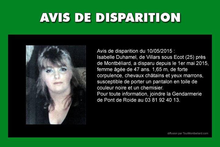 Disparition Isabelle Villars sous Ecot