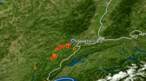 (carte radar orages Meteogroup 02/03/2016 21h45)