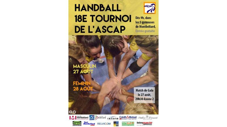 18 me tournoi de handball de l 39 ascap montb liard. Black Bedroom Furniture Sets. Home Design Ideas