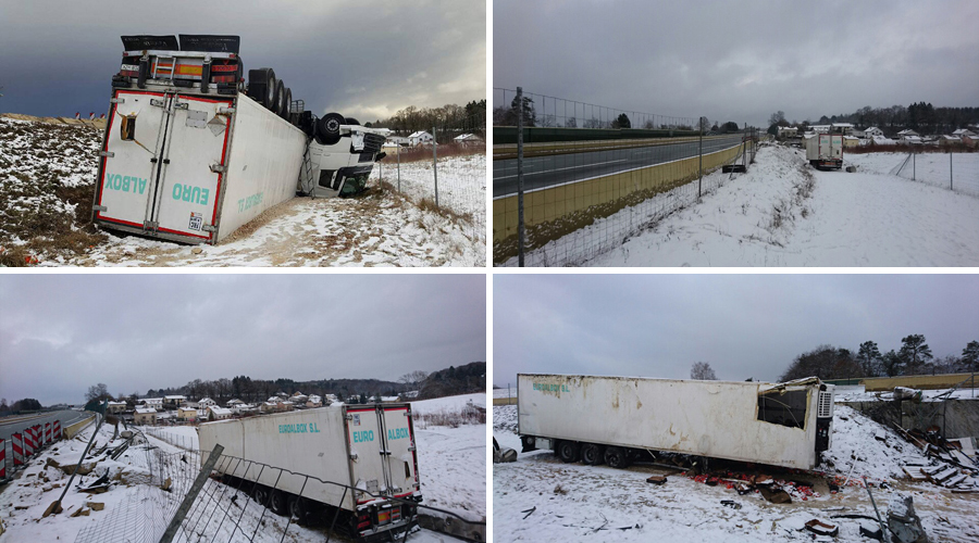 accident de camion sur l a36 pr s de montb liard vendredi 13 janvier 2017. Black Bedroom Furniture Sets. Home Design Ideas