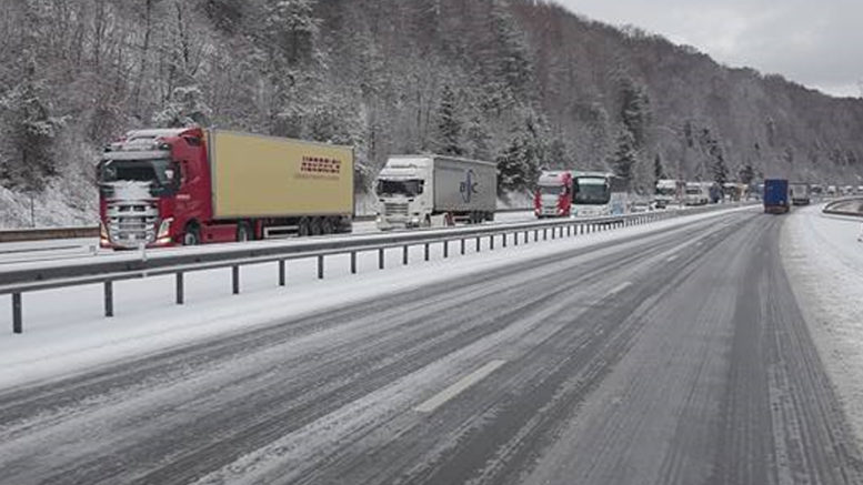 Trafic perturb sur l 39 a36 montb liard besan on cause neige for Montbeliard besancon