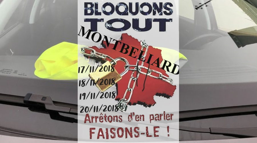 gilets jaunes du 17 novembre 2018 les rassemblements et blocages dans le pays de montb liard. Black Bedroom Furniture Sets. Home Design Ideas