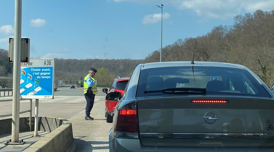controle police peage autoroute